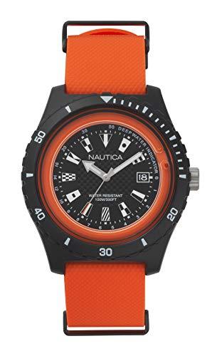 ノーティカ 腕時計 メンズ 【送料無料】Nautica Men's 'Surfside' Quartz Resin and Silicone Casual Watch, Color:Orange (Model: NAPSRF003)ノーティカ 腕時計 メンズ