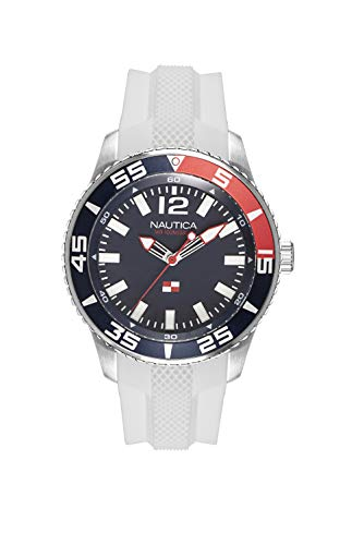 ノーティカ 腕時計 メンズ 【送料無料】Nautica Men's Pacific Beach Stainless Steel Japanese-Quartz Watch with Silicone Strap, White, 21 (Model: NAPPBP905ノーティカ 腕時計 メンズ