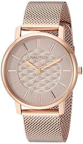 腕時計 ノーティカ レディース 【送料無料】Nautica Women's Coral Gables Japanese-Quartz Watch with Stainless-Steel Strap, Rose Gold, 17.7 (Model: NAPCGP908腕時計 ノーティカ レディース