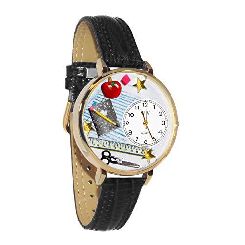 気まぐれな腕時計 かわいい プレゼント クリスマス ユニセックス 【送料無料】Teacher Watch in Gold (Large)気まぐれな腕時計 かわいい プレゼント クリスマス ユニセックス