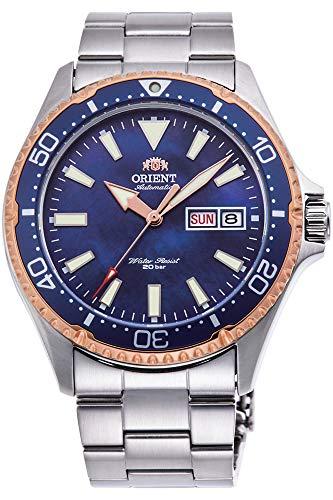 腕時計 オリエント メンズ 【送料無料】Orient Ray 3 Limited Edition Mechanical Sports 200M Rose Gold Coral Blue Dial Watch RA-AA0007A腕時計 オリエント メンズ