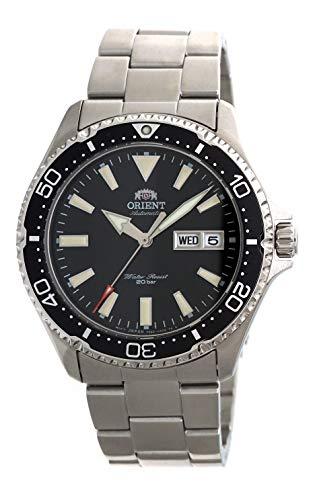 オリエント 腕時計 メンズ 【送料無料】ORIENT Mens Diving Sports Automatic 200m Watch with Black Dial Steel Bracelet RA-AA0001Bオリエント 腕時計 メンズ