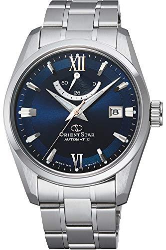 オリエント 腕時計 メンズ 【送料無料】Orient Star Power Reserve Sapphire Glass Steel Bracelet Blue Dial Dress Watch RE-AU0005Lオリエント 腕時計 メンズ