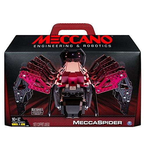 メカノ 知育玩具 パズル ブロック MECCANO-Erector ? MeccaSpider Robot Kit for Kids to Build, STEM Toy with Interactive Built-in Games and App, Infrared Remote Controlメカノ 知育玩具 パズル ブロック