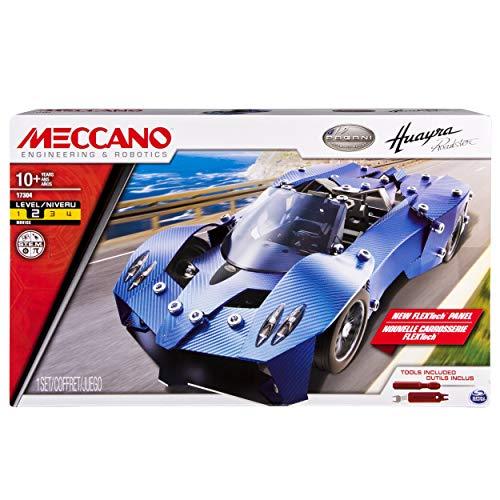 メカノ 知育玩具 パズル ブロック Meccano-Erector ? Pagani Huayra Roadster Sports Car Building Setメカノ 知育玩具 パズル ブロック