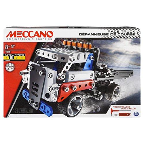 メカノ 知育玩具 パズル ブロック Erector by Meccano, Race Truck Model Vehicle Building Kit, for Ages 8 and up, STEM Construction Education Toyメカノ 知育玩具 パズル ブロック