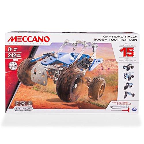 メカノ 知育玩具 パズル ブロック MECCANO Erector, Off-Road Rally, 15 Vehicle Model Building Set, 242 Pieces, for Ages 8 and up, STEM Construction Education Toyメカノ 知育玩具 パズル ブロック