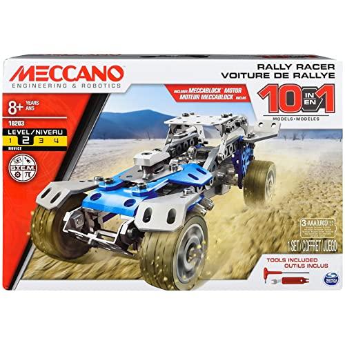 メカノ 知育玩具 パズル ブロック Erector by Meccano 10 in 1 Rally Racer Model Vehicle Building Kit, STEM Education Toy for Ages 8 & upメカノ 知育玩具 パズル ブロック