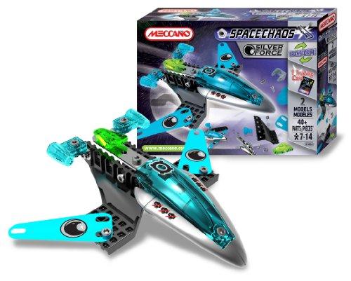 メカノ 知育玩具 パズル ブロック Meccano - 803100A - Jeu de Construction - Space Chaos - Patrol Silver Forceメカノ 知育玩具 パズル ブロック