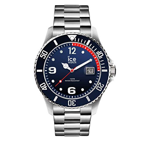 アイスウォッチ 腕時計 メンズ かわいい Ice-Watch ICE Steel Marine Silver Deep Blue Dial Stainless Steel Large Men's Watch 015775アイスウォッチ 腕時計 メンズ かわいい
