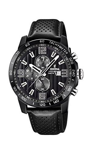 フェスティナ フェスティーナ スイス 腕時計 メンズ 【送料無料】Festina 'The Originals Collection' Men's Quartz Watch with Black Dial Chronograph Display and Black Leather Strap F20339/6フェスティナ フェスティーナ スイス 腕時計 メンズ