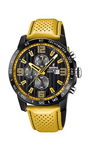 フェスティナ フェスティーナ スイス 腕時計 メンズ Festina 'The Originals Collection' Men's Quartz Watch with Black Dial Chronograph Display and Yellow Leather Strap F20339/3フェスティナ フェスティーナ スイス 腕時計 メンズ