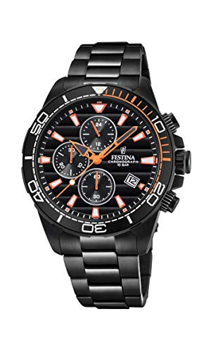 フェスティナ フェスティーナ スイス 腕時計 メンズ Men's Watch Festina - F20365/1 - Chronograph - Date - AM/PM - Black and Orange - Stainless Steelフェスティナ フェスティーナ スイス 腕時計 メンズ