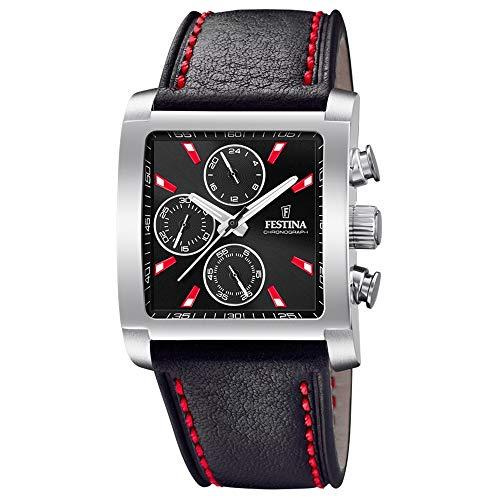 フェスティナ フェスティーナ スイス 腕時計 メンズ 【送料無料】Festina Mens Chronograph Quartz Watch with Leather Strap F20424/8フェスティナ フェスティーナ スイス 腕時計 メンズ