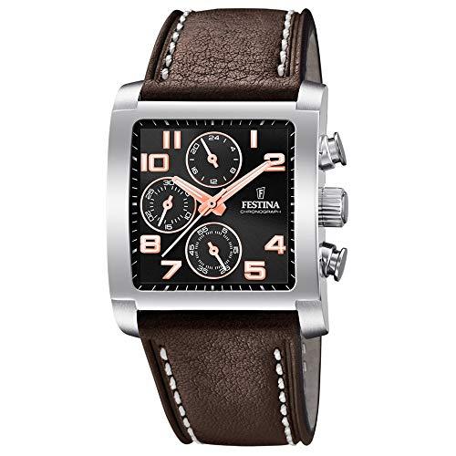 フェスティナ フェスティーナ スイス 腕時計 メンズ 【送料無料】Festina Mens Chronograph Quartz Watch with Leather Strap F20424/7フェスティナ フェスティーナ スイス 腕時計 メンズ