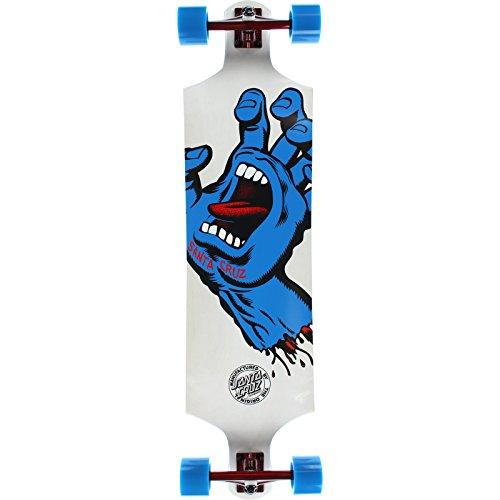 スタンダードスケートボード スケボー 海外モデル 直輸入 Santa Cruz Skateboards Screaming Hand White Complete Skateboard - 10