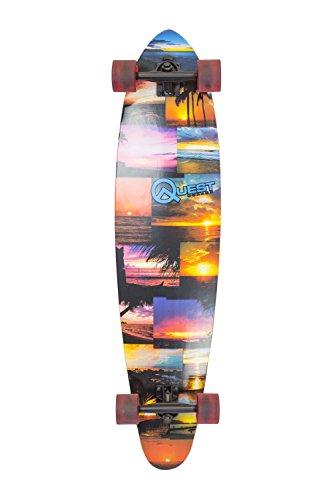 ロングスケートボード スケボー 海外モデル 直輸入 QT-GIS42C Quest Island Sunset Pintail Longboard Skateboard, Multicolor, 42