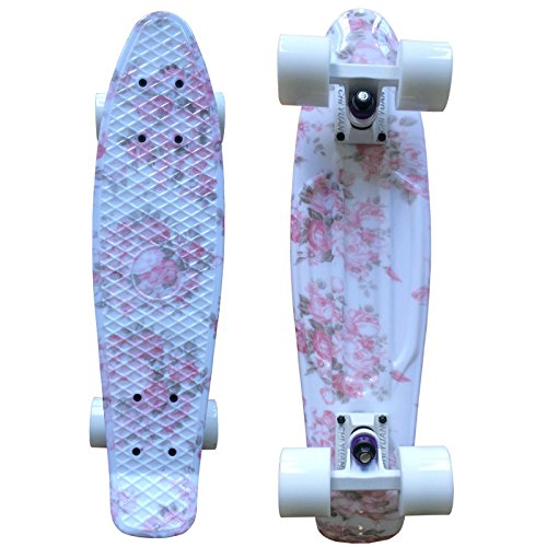 ロングスケートボード スケボー 海外モデル 直輸入 CHI YUAN Boards 22 Inch Plastic Skateboard Urban Cruiser Complete Pink Floral Graphic Printロングスケートボード スケボー 海外モデル 直輸入