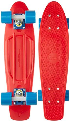 スタンダードスケートボード スケボー 海外モデル 直輸入 1CPEN0122RRBWB9 Penny Complete Skateboard, 22-Inch, Red/White/Cyanスタンダードスケートボード スケボー 海外モデル 直輸入 1CPEN0122RRBWB9