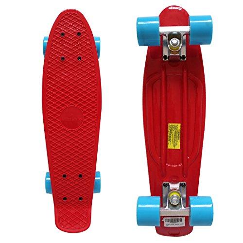 スタンダードスケートボード スケボー 海外モデル 直輸入 Rimable 22 Inch Style Skateboard Red&blueスタンダードスケートボード スケボー 海外モデル 直輸入