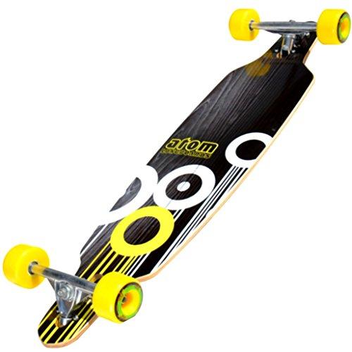 ロングスケートボード スケボー 海外モデル 直輸入 91057 Atom 36-Inch Drop-Through Longboard, Black/White/Yellowロングスケートボード スケボー 海外モデル 直輸入 91057