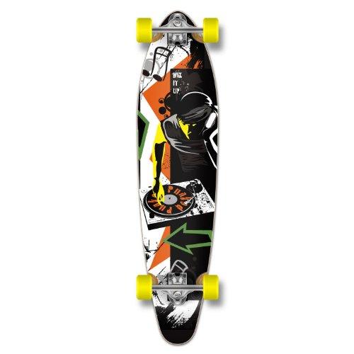 ロングスケートボード スケボー 海外モデル 直輸入 Yocaher Graphic Complete Longboard KICKTAIL 70's shape skateboard w/ 71mm wheels, MIXITUPロングスケートボード スケボー 海外モデル 直輸入