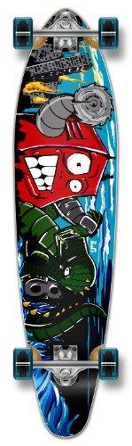 ロングスケートボード スケボー 海外モデル 直輸入 Yocaher Graphic Complete Longboard KICKTAIL 70's shape skateboard w/ 71mm wheels, ROBOTロングスケートボード スケボー 海外モデル 直輸入