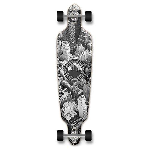 ロングスケートボード スケボー 海外モデル 直輸入 Dropthrou-NY New Graphics Drop Through Complete Longboard Professional Speed Skateboard (New York)ロングスケートボード スケボー 海外モデル 直輸入 Dropthrou-NY