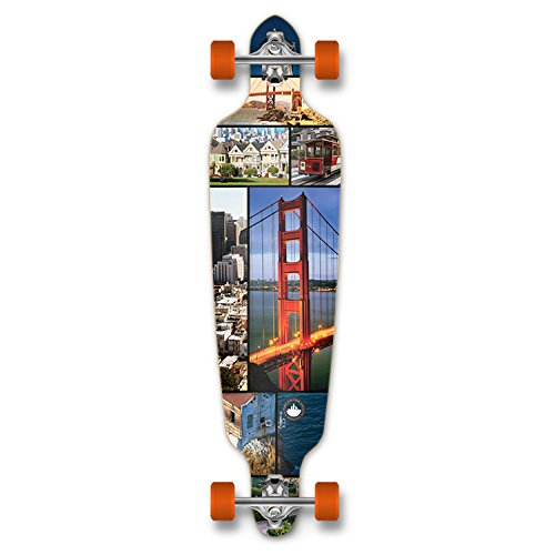 ロングスケートボード スケボー 海外モデル 直輸入 Dropthrou-SF Yocaher Punked New Graphics Drop Through Complete Longboard Professional Speed Skateboard (San Francisco)ロングスケートボード スケボー 海外モデル 直輸入 Dropthrou-SF