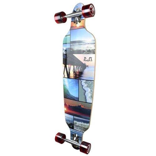 ロングスケートボード スケボー 海外モデル 直輸入 Dropthrou-Seaside Yocaher Beach Series Complete Drop Through Skateboards Longboard w/Black Widow Premium 80A Grip Tape Aluminum Truck ABロングスケートボード スケボー 海外モデル 直輸入 Dropthrou-Seaside