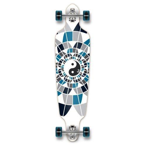 ロングスケートボード スケボー 海外モデル 直輸入 Dropthrou-YingYang New Graphics Drop Through Complete Longboard Professional Speed Skateboard (Ying Yang)ロングスケートボード スケボー 海外モデル 直輸入 Dropthrou-YingYang