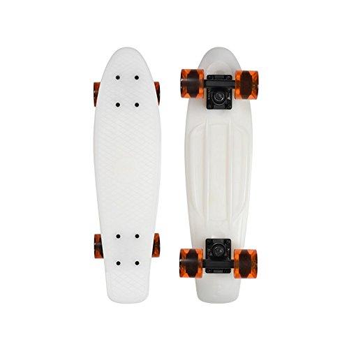 スタンダードスケートボード スケボー 海外モデル 直輸入 Penny Ghost Series Complete Skateboard, Glow/Orange, 22