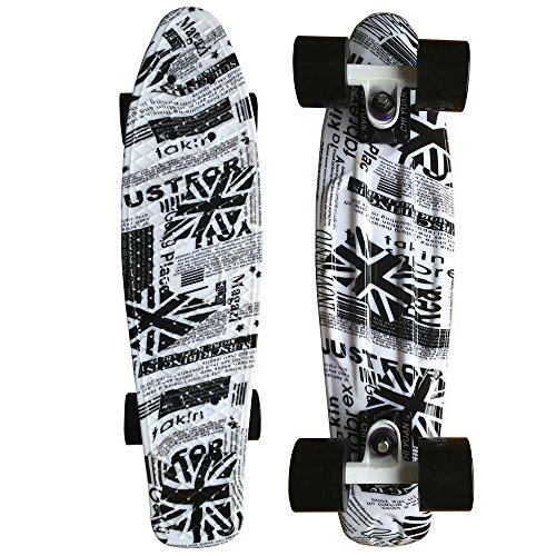 ロングスケートボード スケボー 海外モデル 直輸入 CHI YUAN 22 Inch Graphic Printed Plastic Skateboard Urban Cruiser Board Completeロングスケートボード スケボー 海外モデル 直輸入
