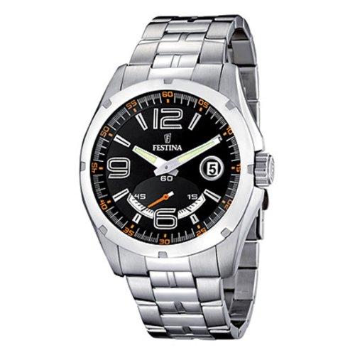 フェスティナ フェスティーナ スイス 腕時計 メンズ 【送料無料】Festina f16480/6 Mens Analog Quartz Watch with Stainless Steel Bracelet F16480/6フェスティナ フェスティーナ スイス 腕時計 メンズ