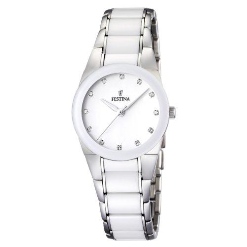 フェスティナ フェスティーナ スイス 腕時計 レディース Festina Women's F16534/3 White Ceramic Quartz Watch with White Dialフェスティナ フェスティーナ スイス 腕時計 レディース