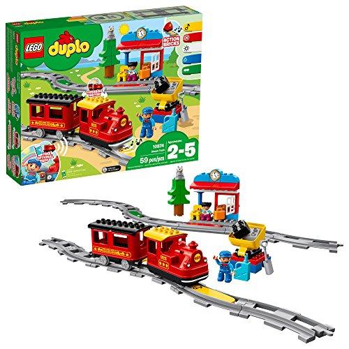 レゴ デュプロ LEGO DUPLO Steam Train 10874 Remote-Control Building Blocks Set Helps Toddlers Learn, Great Educational Birthday Gift (59 Pieces)レゴ デュプロ