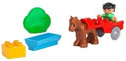 レゴ デュプロ 【送料無料】Lego Duplo Pony and Cartレゴ デュプロ