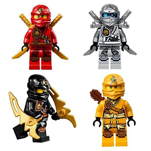 レゴ ニンジャゴー LEGO? Ninjago - Set of 4 Zukin Ninjas 2015 - Zane, Skylor, Kai & Cole - Lot #1レゴ ニンジャゴー