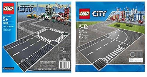 レゴ シティ LEGO City 7280 and 7281 - Road Base Plates (4 Plates in total)レゴ シティ