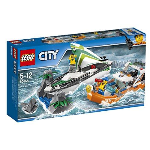 レゴ シティ LEGO City 60168 Sailboat Rescue Building Toy With Boats That Really Float. Includes: Coast Guard Rescue Boat, Sailboat, Rock Island, 2 Minifigures, 1 Shark Minifigure. 195 Pieces. Item: 6174681.レゴ シティ