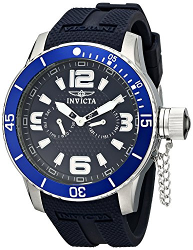 インヴィクタ インビクタ 腕時計 メンズ 【送料無料】Invicta Men's 1791 Specialty Navy Blue Textured Dial Navy Blue Silicone Watchインヴィクタ インビクタ 腕時計 メンズ