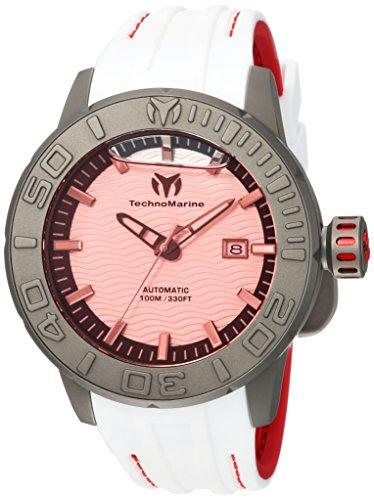テクノマリーン 腕時計 メンズ 【送料無料】Technomarine Men's Reef Titanium Automatic-self-Wind Watch with Silicone Strap, Two Tone, 24 (Model: TM-516007)テクノマリーン 腕時計 メンズ