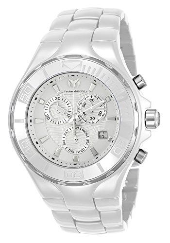 テクノマリーン 腕時計 メンズ Technomarine Men's Cruise Quartz Watch with Ceramic Strap, White, 24 (Model: TM-115319)テクノマリーン 腕時計 メンズ