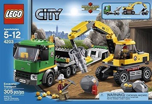 レゴ シティ 【送料無料】WE-R-KIDS Game / Play Lego City: Excavator Transport 4203. Minifigure, Playset, Collectible, Toys, Characters Toy / Child / Kidレゴ シティ