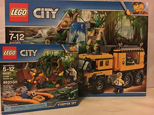 レゴ シティ LEGO City Jungle Jungle Mobile Lab & LEGO City Jungle Starter Setレゴ シティ