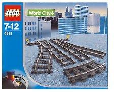 レゴ シティ Lego World City Switching Tracks for 9V Trains #4531レゴ シティ