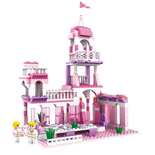 レゴ ディズニープリンセス 【送料無料】MONING.C Girls Princess Castle Blocks Set 254 Pieces Toys for Girls Building Bricks Construction Toys for Kids Pink Assembly Toy Christmas Birthday Gift Kids Age 6+レゴ ディズニープリンセス