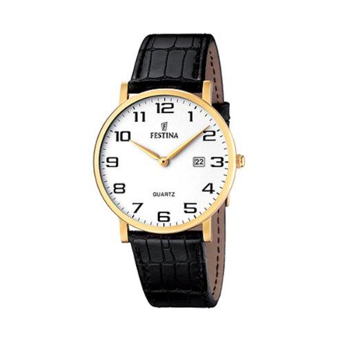 フェスティナ フェスティーナ スイス 腕時計 メンズ 【送料無料】Festina Men's Stainless Steel Quartz Watch with Leather Strap, Black, 21 (Model: F16478/1)フェスティナ フェスティーナ スイス 腕時計 メンズ