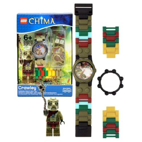 レゴ チーマ Lego Year 2013 Legends of Chima Series Watch with Minifigure Set #9000416 - CRAWLEY Watch Plus Crawley Minifigure with Whip (Water Resistant: 50m/165ft)レゴ チーマ