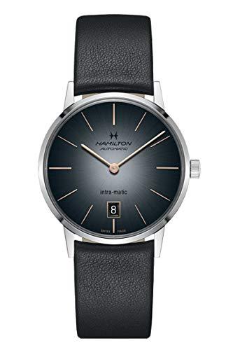 ハミルトン 腕時計 メンズ 【送料無料】Hamilton H38455781 Intra-Matic Automatic Men's Watch Black Leatherハミルトン 腕時計 メンズ